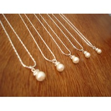Simple Elegant Pearl Necklaces - Bridesmaid Jewelry Gift