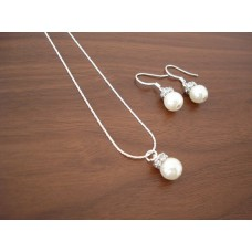 Popular Pearl Bridesmaid Jewelry Gifts - Necklace and Earrings
