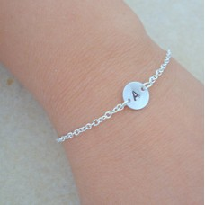 Personalized Floating Initial Bracelet gift - Bridesmaid Gifts