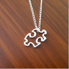 Puzzle Necklace - Modern Dainty Jigsaw Necklace